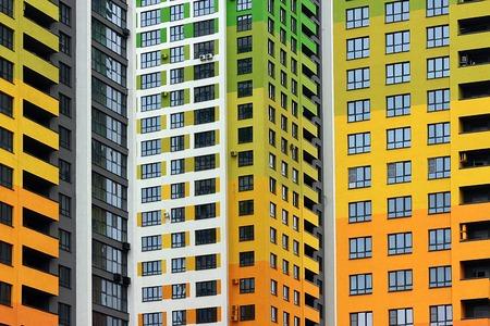 multi storey: multi colored multi storey building Stock Photo