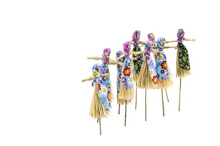 maslenitsa: Doll for burning on holiday Maslenitsa on the white background