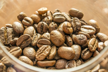 coffeetree: Coffee on grunge wooden background