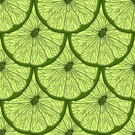 repetition: Illustration Seamless Pattern Slices of Lime, Repetition Background - Vector Illustration