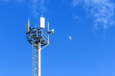Cellular antenna against blue sky