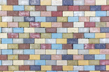 Old brick multi-colored wall of bricks Stock Photo - 127988195