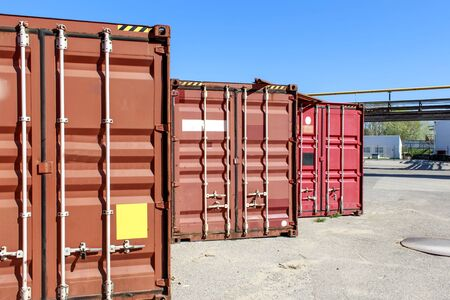 Industrial containers box for import export concept and transportation