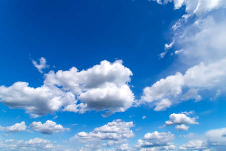 Blue sky with white clouds. Beautiful background