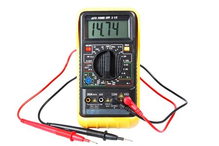 multimeter, a device on a white background Stock Photo - 11430305