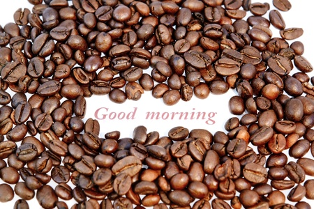 coffee beans on white background Stock Photo - 11430337