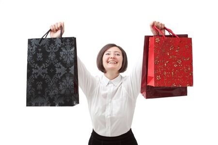 girl on purchases with shopping bags. Stock Photo - 11792189