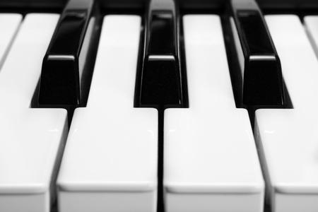 piano closeup: piano keys, close-up. Stock Photo