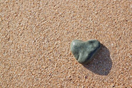 stone in the shape of a heart photo