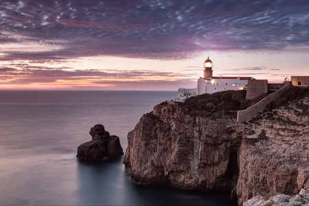 lighthouse on the coast of Portugal. photo