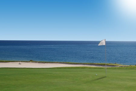 Golf course on the ocean. Portugal. photo