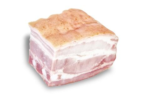 Cut ham  On a white background Stock Photo - 13010197