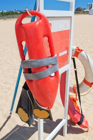 Marine Equipment lifeguard at the beach Portugal  photo