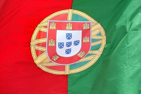 Portuguese flag in the wind  photo