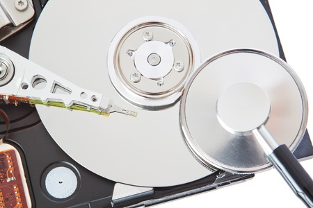Diagnose and repair hard drive with a stethoscope  photo