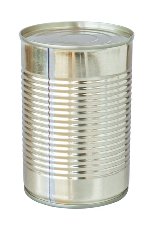 The closed tin cans  On a white background  Stock Photo - 13773436