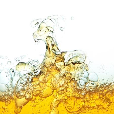 aceite de oliva: Abstracci�n, las burbujas de aceite en el agua Foto de archivo