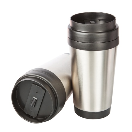 Two travel cup  Closeup Imagens - 13983644