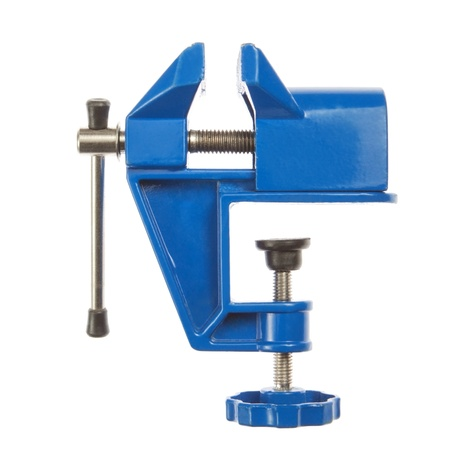 vise: Hand grip- vise small, closeup, on a white background