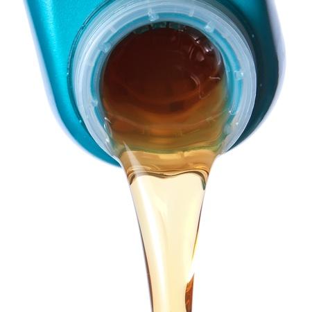 Flowing lubricating oil  Closeup