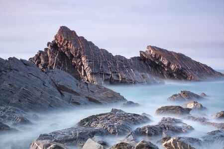 Seascape, waves in a long exposure. Stock Photo - 14410166