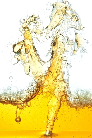 An abstract image of spilled oil in the water. photo