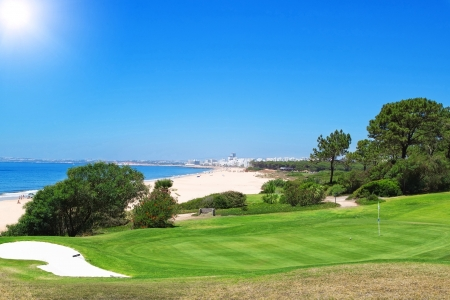 A golf course near the beach in Portugal  Summer Imagens - 14410143