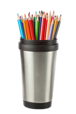 Container pencil on a white background. Stock Photo - 14873402