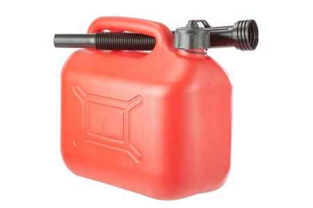 gouge: Red Diesel Canister jerrycan. On a white background.
