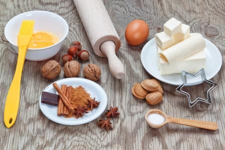Kitchen utensils utensils for baking at Christmas Stock Photo - 16003031