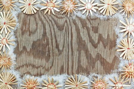 Christmas decorative frame texture. photo
