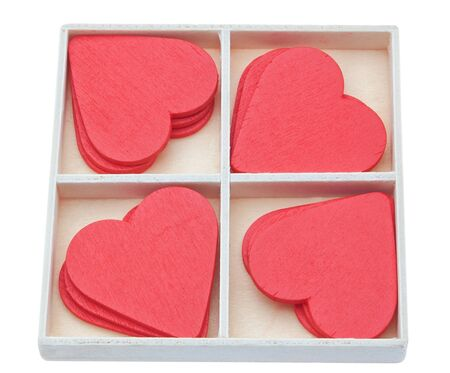 Gift box with red lovely hearts  Valentine photo