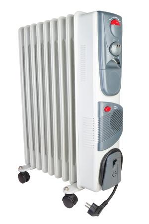 electric fixture: Riscaldatore elettrico costale in olio su uno sfondo bianco