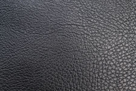 fabric bag: Black textured leather for textile sewing  Close-up