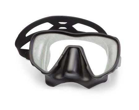 Mask for snorkeling and diving  On a white background  photo