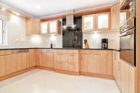 Modern gourmet kitchen for a family with all the technology.