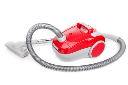 vac: Vacuum cleaner for modern house cleaning. Stock Photo