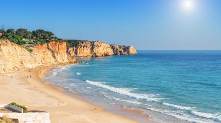 Summer sea Atlantic beaches in Lagos. Portugal.