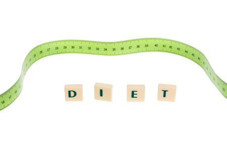 literal: Literal word diet. With metering meter in the background.