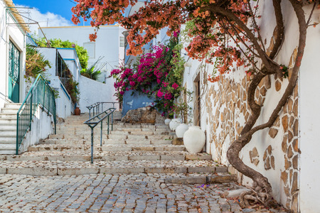 Ancient street village Estoi. Portugal, Faro. photo