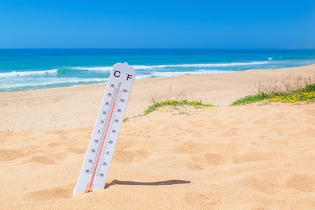 extreme weather: The heat on the beach.  Stock Photo