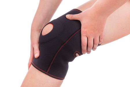 Sports injuries of the knee. Muscle strain. Standard-Bild