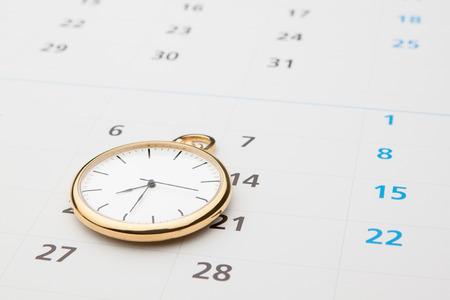 時間のシンボルです。時計とカレンダー。