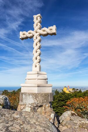 ferdinand: Cross High, of King Ferdinand. Pena Palace Sintra, Sintra Portugal. Editorial