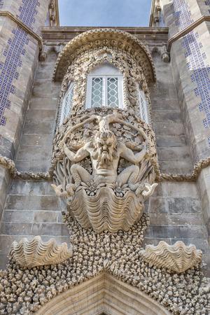 pena: Unique frescos of the castle Pena. Sintra Portugal.