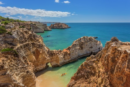 seascapes: Beautiful seascapes Albufeira. With the kayak away.