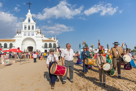 singing bells: El ROCIO, ANDALUCIA, SPAIN - MAY 22: Romeria after visiting the Sanctuary goes to village.  2015  It is one of the most famous pilgrimage of Spain. This pilgrimage passes from the 15th century.