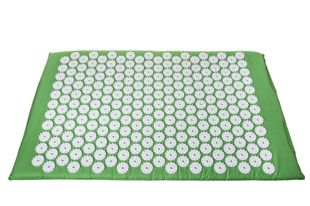 Acupuncture mat for treatment in orthopedics. For spine Stock Photo