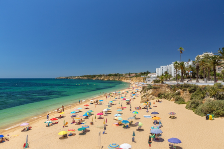 Beautiful beaches of the Algarve coast of Portugal, Armacao de Pera.