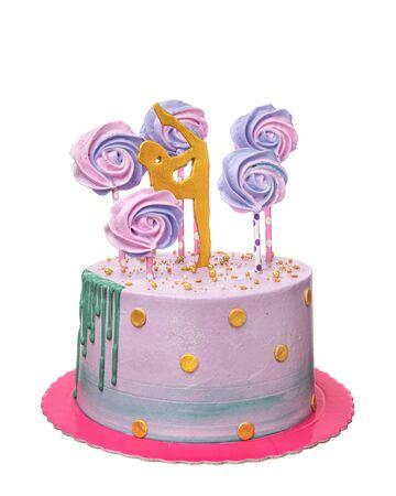 A birthday cake for a girl gymnast.
